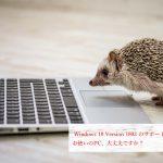 Windows 10 Version 1803 のサポートが終了!お使いのPC、大丈夫ですか?